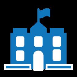 Blue private school logo