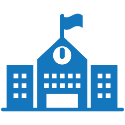 Blue public school icon