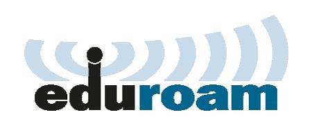 Eduroam logo in blue and black